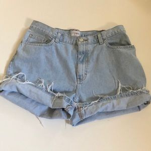 Vintage Calvin Klein Destructed Denim Shorts